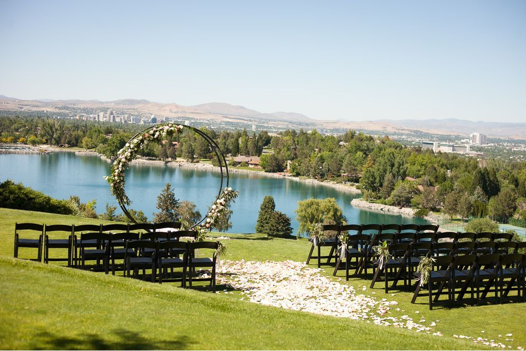 View of a wedding ceremony area